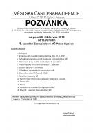 9. zasedání ZMČ Praha-Lipence 1